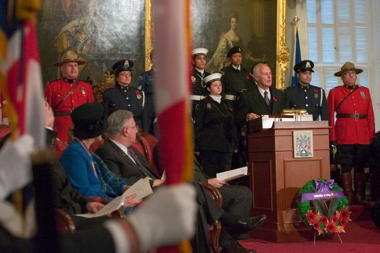 Inauguration du salon des anciens combattants